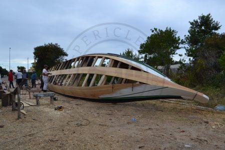 "Boat building in ""Moliceiro"" boat Interpretive Centre in Torreira (Murtosa municipality, Ria de Aveiro region)"