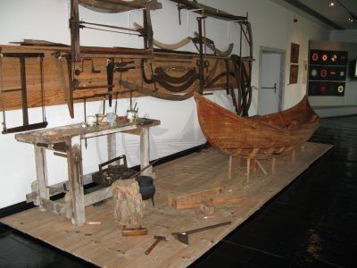 Traditional boat building tools in the Ilhavo maritime museum