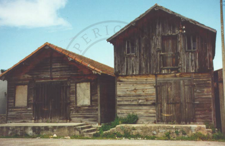 Traditional coastal wood buildings used as fisheries and salt warehouses