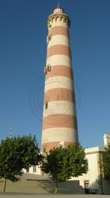 Barra lighthouse in Barra beach, the second tallest lighthouse in the Iberian Peninsula (Ilhavo municipality, Ria de Aveiro region)