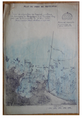 B3 - Plan of the port of Portsall and the seaweed rocks in 1934 - Brittany - Departmental archives of Finistère