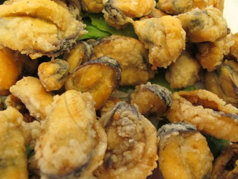 Deep fried mussels, Greece