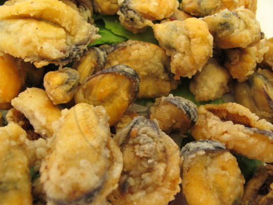 deep fried mussels