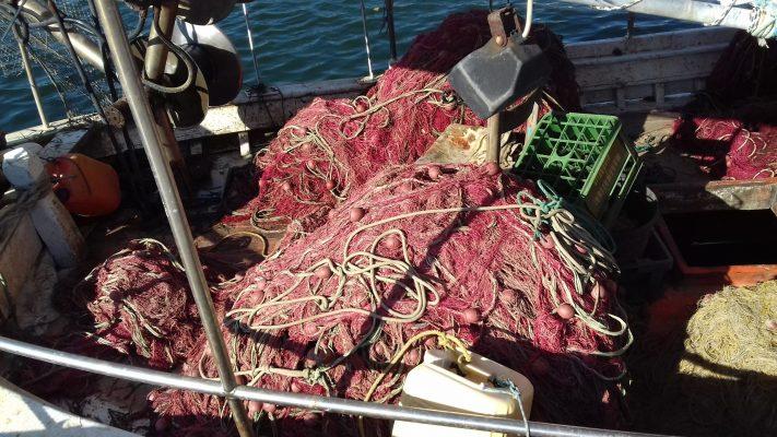 nets on the boat, Fanari harbor